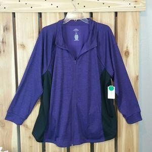 Plus Size Zip up Sweatshirt NWT